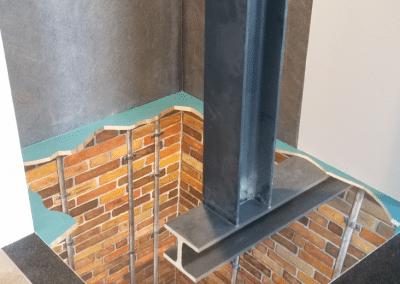 Aufzugschacht in Bäderstudio - Bodengestaltung 2