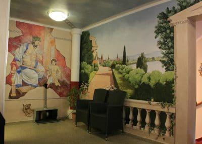 """Wandmalerei im Hotel """"Wilder Mann"""" in Aschaffenburg 1"""