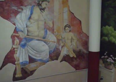 """Wandmalerei im Hotel """"Wilder Mann"""" in Aschaffenburg 4"""