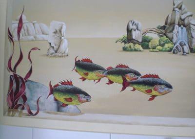 Badezimmer Emsland: Surreale Malerei im Stil Trompe-l´oeil 2