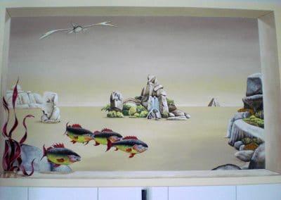 Badezimmer Emsland: Surreale Malerei im Stil Trompe-l´oeil 1