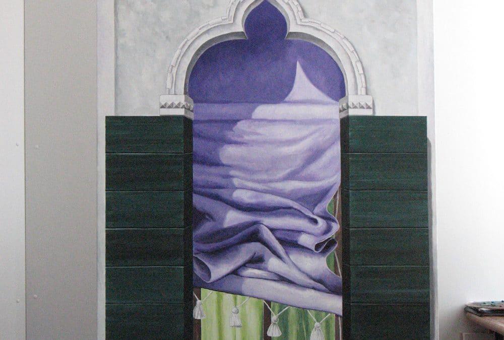 Fensterbilder: Acryl auf Leinwand