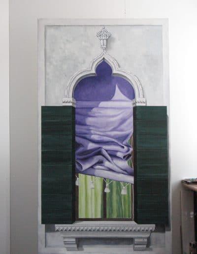 Fensterbilder: Acryl auf Leinwand 2