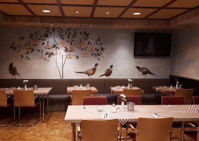 """Wandmalerei im Hotel """"Wilder Mann"""" in Aschaffenburg 7"""