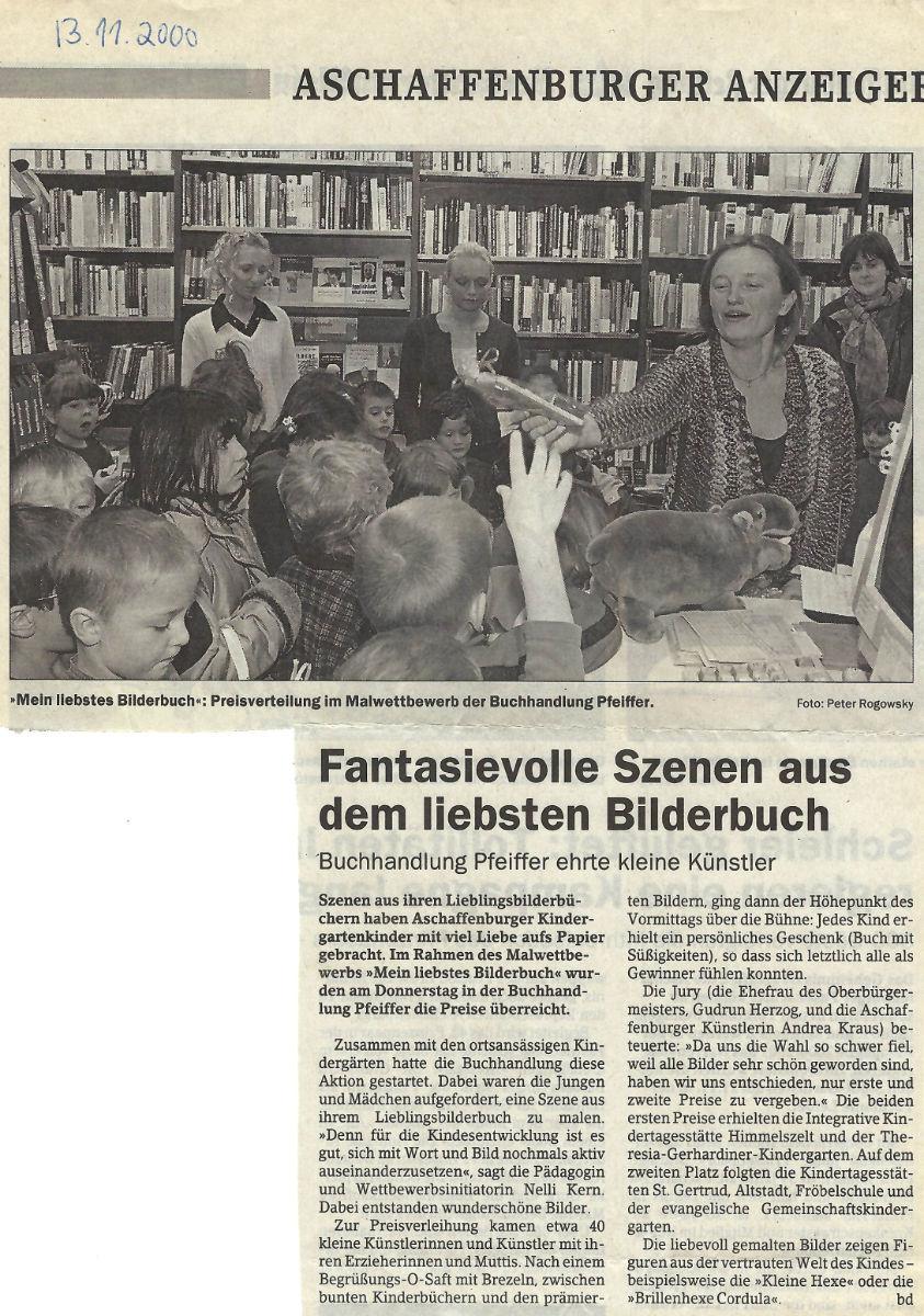 Fantasievolle Szenen aus dem lieben Bilderbuch (Andrea Kraus / Main Echo / 13.11.2000)