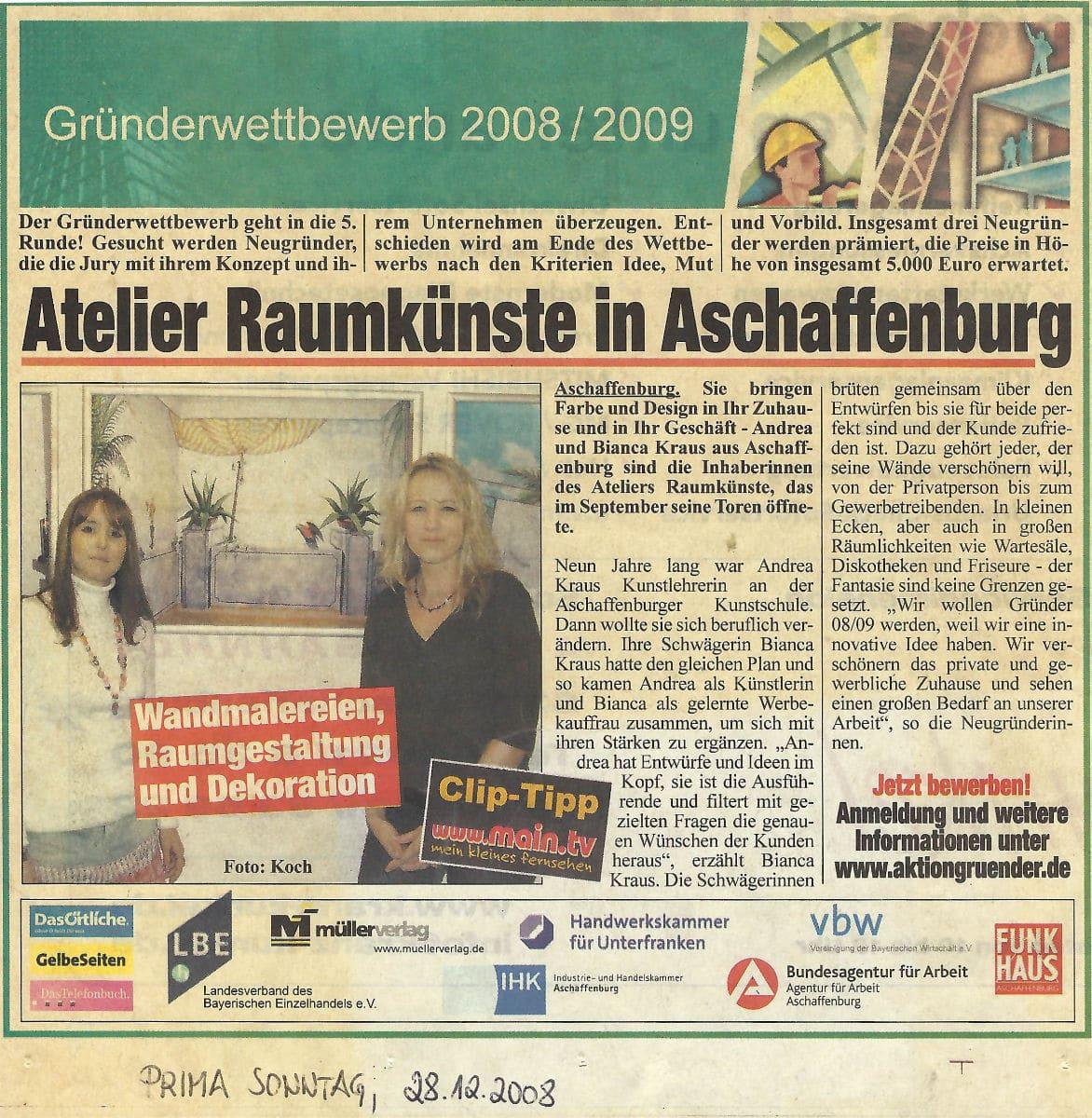 Gründerwettbewerb Funkhaus Aschaffenburg - Portrait von Andrea Kraus (2008)