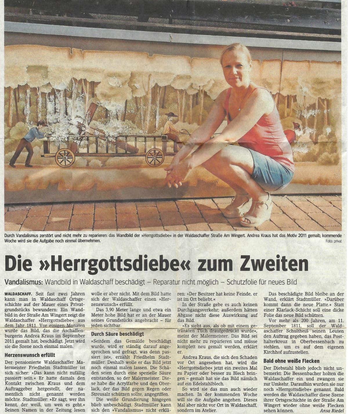 """Die """"Herrgottdiebe"""" zum Zweiten (Andrea Kraus / Main Echo / 2011)"""